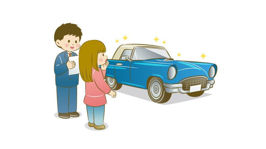 車を購入する女性のイメージ